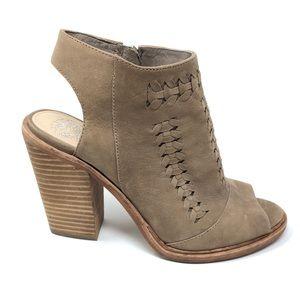 Vince Camuto Peep Toe Booties Heel 7.5